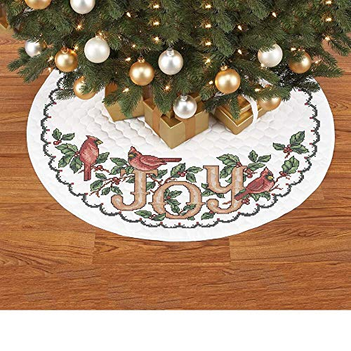 (Herrschners® Pre-Quilted Cardinal Joy Tree Skirt Stamped Cross-Stitch)
