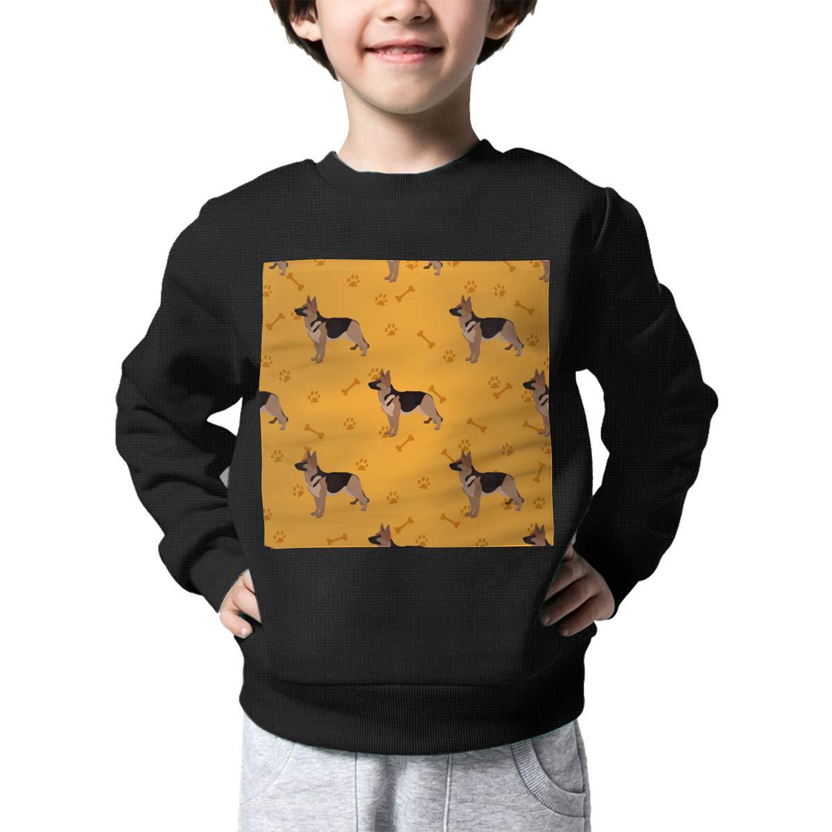 NJKM5MJ Boys Girls Dog German Shepherd Pattern Lovely Sweaters Soft Warm Unisex Children Kids Sweater