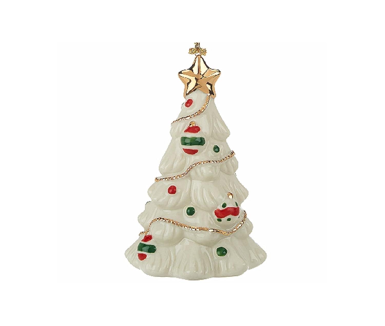 Amazon.com: Lenox Very Merry Christmas Ornament Set 5 PC Snowman ...