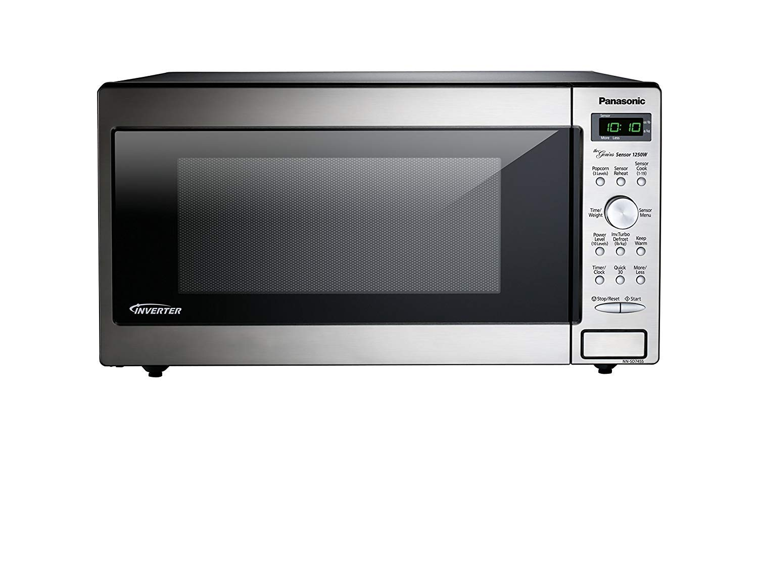 PANASONIC Compact Microwave Oven Built In/Countertop with Inverter Technology and 1250W of Cooking Power - NN-SD745S - 1.6 cu. Ft (Stainless Steel/Silver)