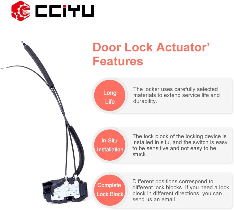 cciyu Door Lock Actuators Door Latch Rear Right Fits for 2004-2014 Nissan Titan 937-305