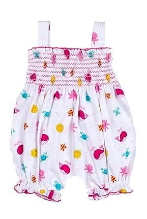 3f3b22b033ae Amazon.com  Kissy Kissy Deep Sea Delight Print Smocked Bubble  Clothing