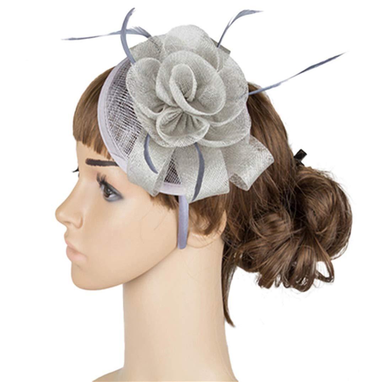Fascinators for Women Female Fashion Fascinators Hats Elegant Floral Wedding Fedora Hair Accessories Headbands