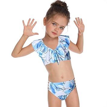 Leaysoo Bikini-Traje de baño para niños Flash Girl Traje de ...