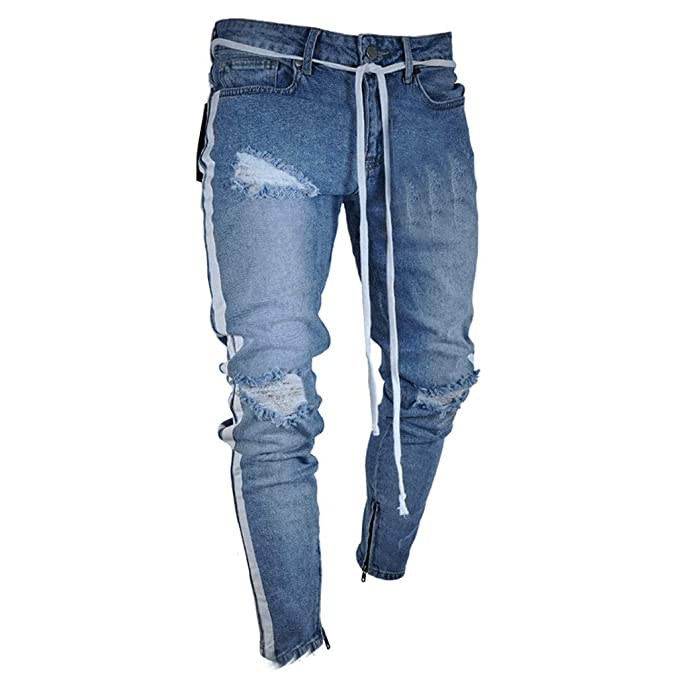 nice shoes uk cheap sale delicate colors Pandaie Mens Pants, Men's Fashion Skinny Jeans Ripped ...