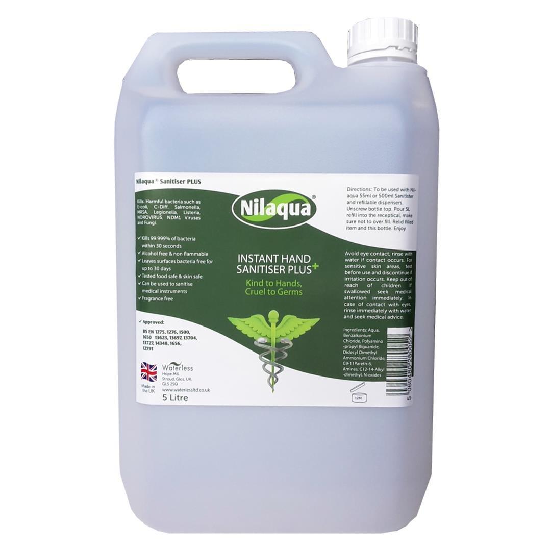 Nilaqua Alcohol Free Hand Sanitiser 5 Litre Amazon Co Uk Health