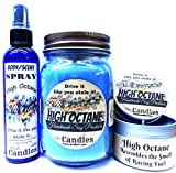 COMBO - High Octane 16oz Country Jar, 4oz Candle Tin & 4oz Bottle of Scent Spray HANDMADE Products