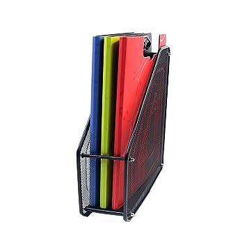 Popowbe - Soporte para archivador de escritorio de malla de acero: Amazon.es: Oficina y papelería