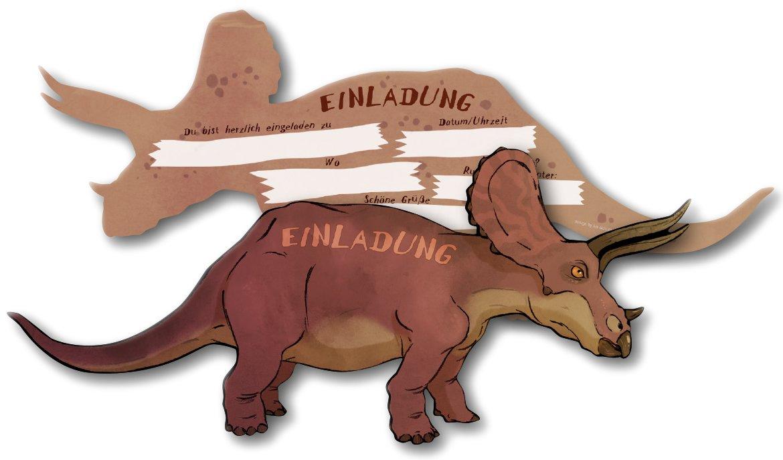 6tarjetas de invitación * Triceratops/Dinosaurios * para niños de cumpleaños DH-Konzept//Dino karte028//Niños Fiesta de cumpleaños niño tarjeta de invitación Niños Fiesta de cumpleaños de dinosaurios Jura DINOKARTE008