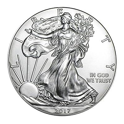 2017 American Silver Silver with Airtite Holder .999 Fine Silver Dollar Brilliant Uncirculated