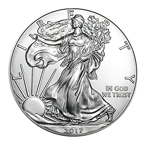 2017 American Silver Silver with Airtite Holder .999 Fine Silver Dollar Brilliant Uncirculated - Dollar Coin