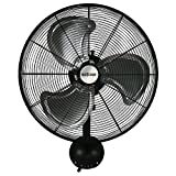 Hurricane Pro High Velocity Oscillating Metal Wall Mount Fan 20 inch - 736474