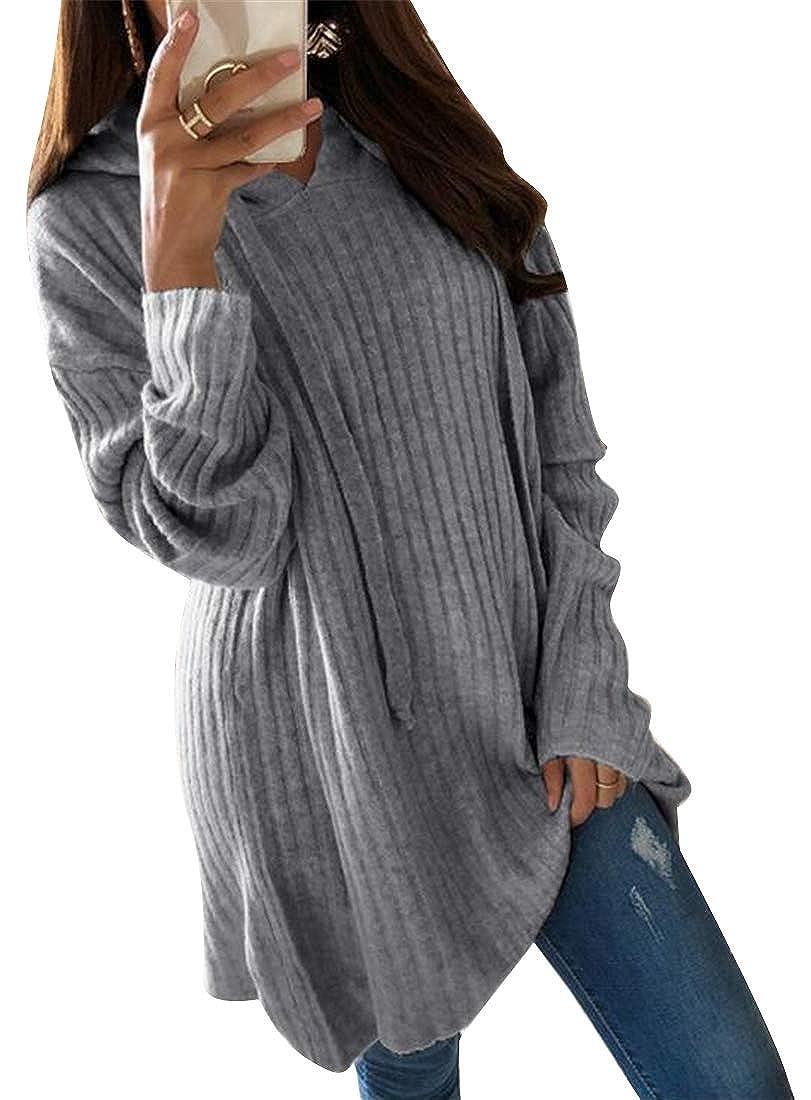 Jotebriyo Women Hoodie Solid Loose Fit Long Sleeve Plus Size Sweatshirt Hoodie Pullover