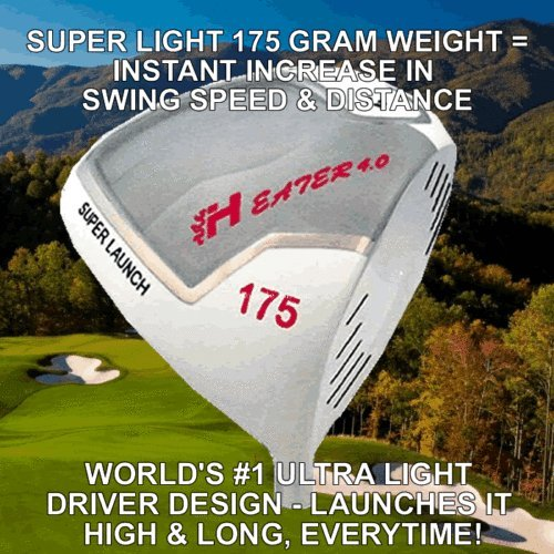 #1 Heater Ghost 175 Gram Ultralite Custom Golf Driver Illegal Non-Conforming Compare Taylormade