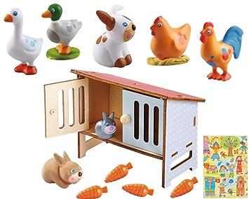 Haba Little Friends Spielfigur GansTierfigurBauernhof Spielzeug ab 3 Jahre Kleinkindspielzeug