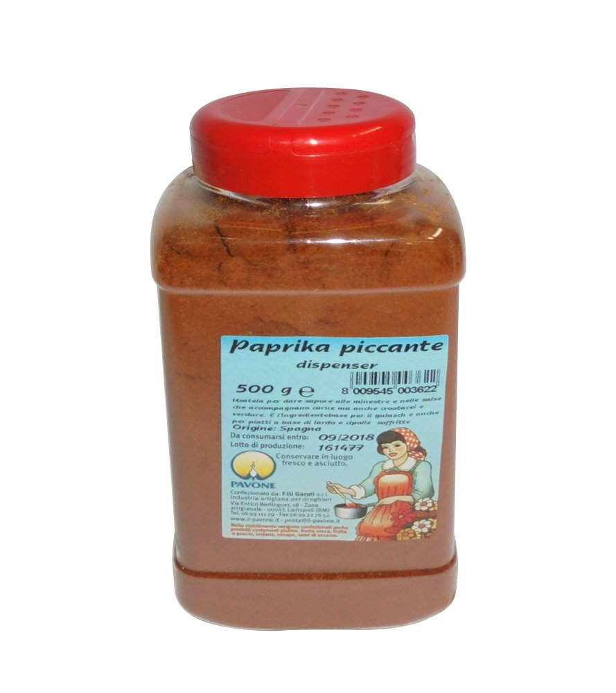 Gr 500 Paprika Piccante (polvo de dispensador para insaporire salsas, verduras y Minestre: Amazon.es: Hogar