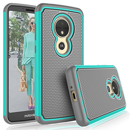 Tekcoo for Moto E5 Play Case,Motorola Moto E5 GO/Moto E5 Cruise Cute Case, [Tmajor] Shock Absorbing [Turquoise] Hybrid Rubber Silicone & Plastic Scratch Resistant Bumper Grip Sturdy Cases Cover