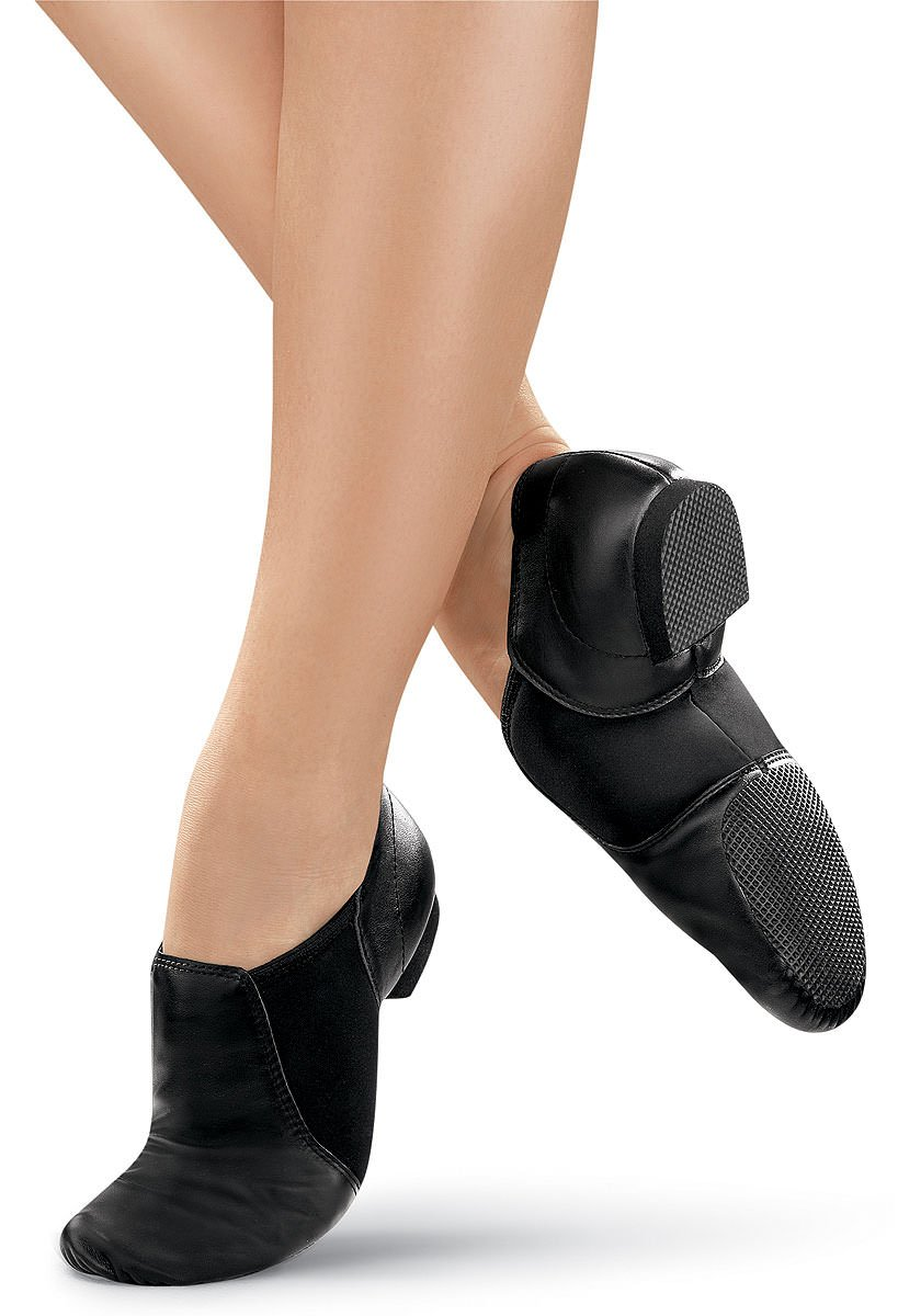 Balera Jazz Shoe Girls Leather Slip On For Dance With Rubber Split Sole B80