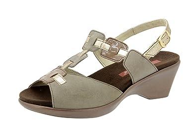 866b59b0 Calzado mujer confort de piel Piesanto 4853 sandalia plantilla extraíble  zapato cómodo ancho
