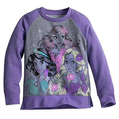 Disney Princess Sparkle Sweatshirt for Girls Size 3 Purple