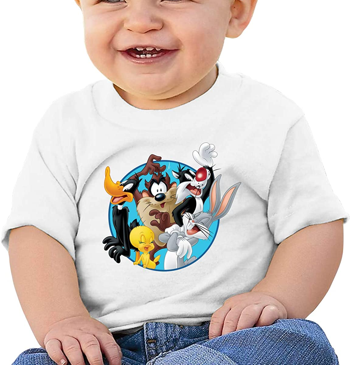 GanCheng The/_loo/_ney/_tun/_ES Tee Breathable Black Tshirts for Baby Girl