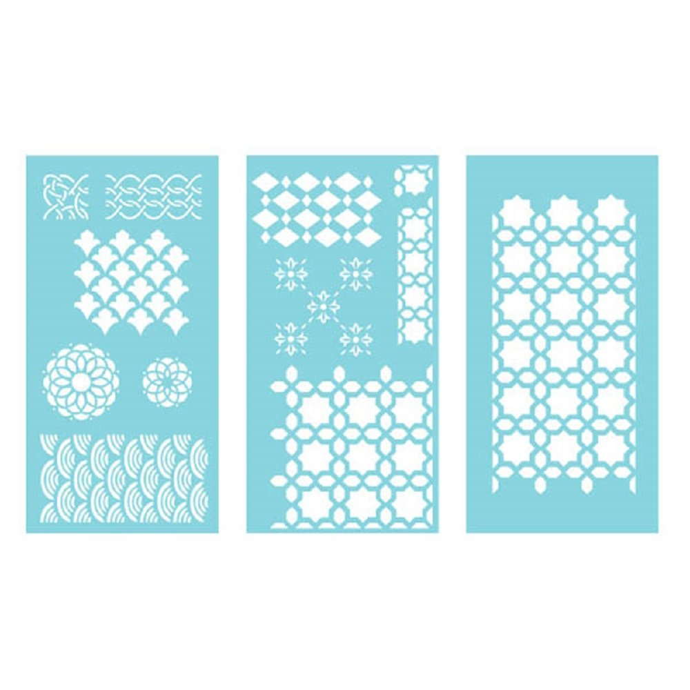 Amazon martha stewart crafts large stencils 875 by 1675 inch amazon martha stewart crafts large stencils 875 by 1675 inch 32976 geometric pattern 3 sheets with 12 designs spiritdancerdesigns Gallery