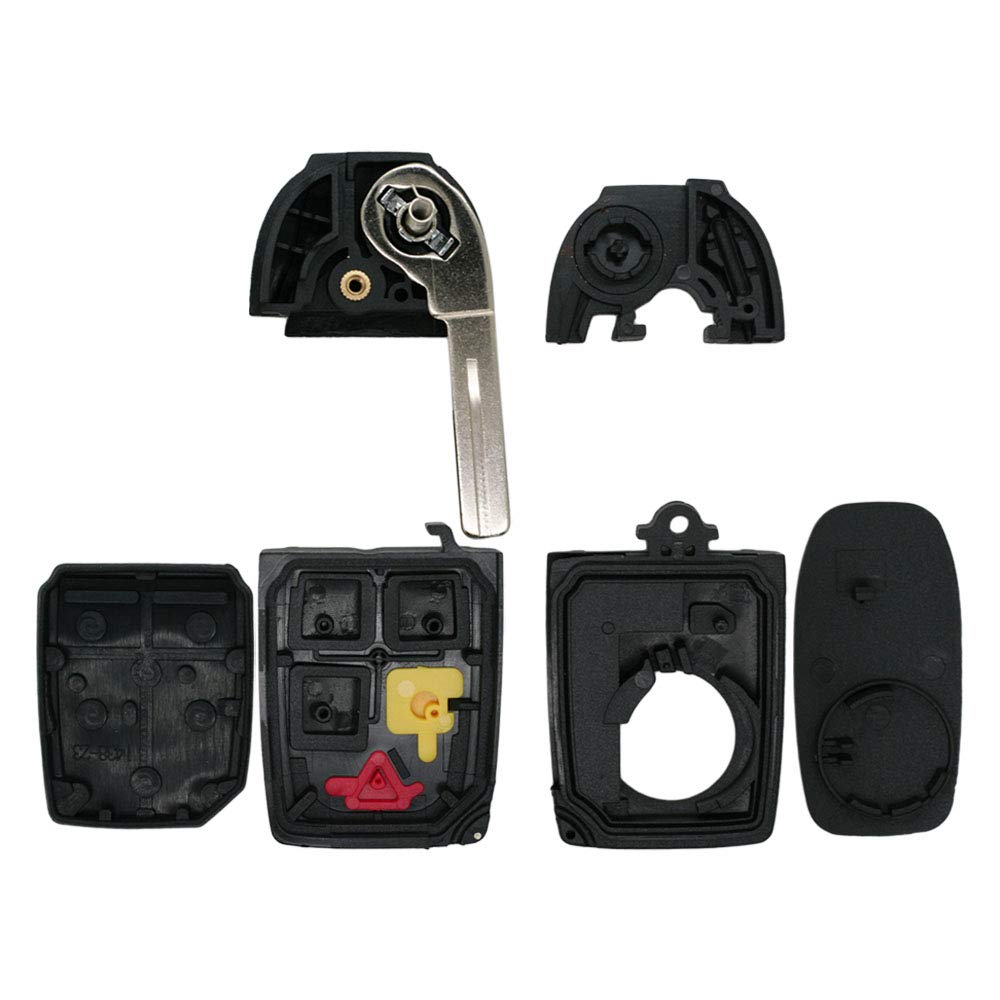 SEGADEN Replacement Key Shell fit for VOLVO 5 Button Flip Keyless Entry Remote Key Case Fob PG786A