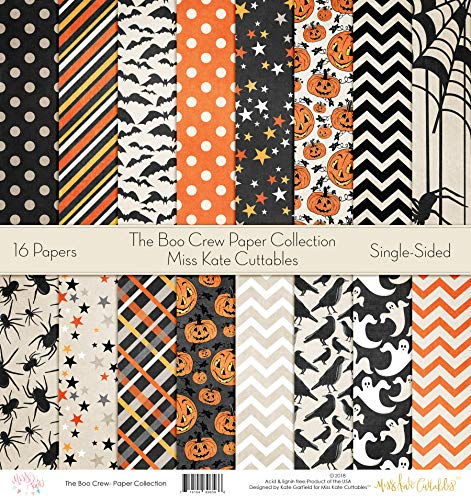Die Cuts & Paper Set - The Boo Crew - by Miss Kate Cuttables - 16 Sheets of 12