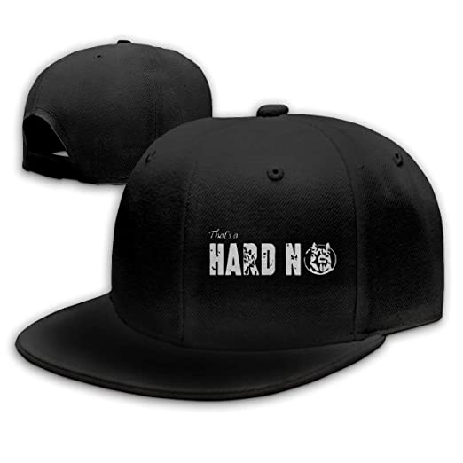 That s A Hard No Letterkenny Baseball Cap Flat Bill Hat Snapback Hats Black 4d36136d081