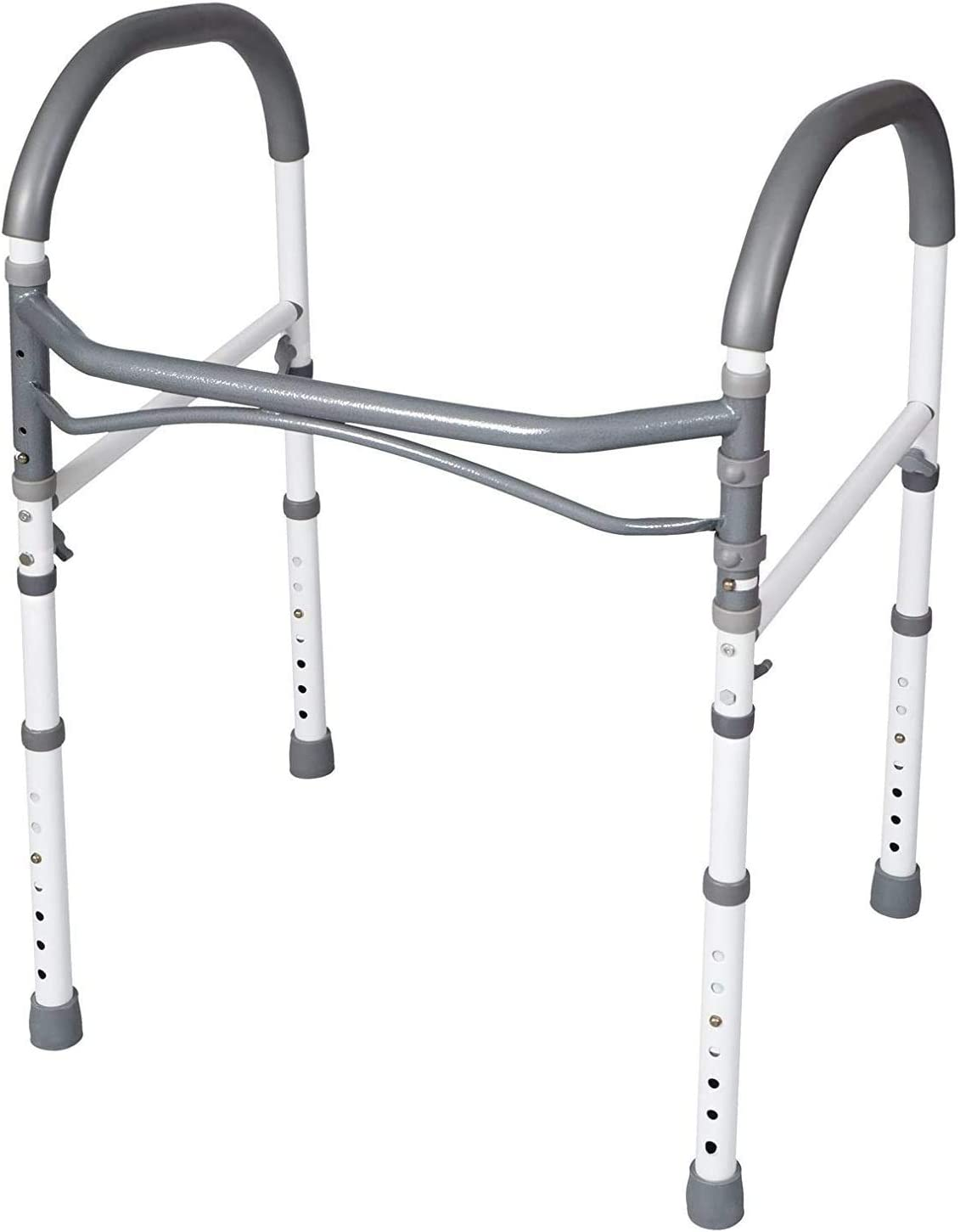 Carex Toilet Safety Rails - Toilet Handles for Elderly and Handicap - Home Health Care Equipment Toilet Safety Frame: Health & Personal Care