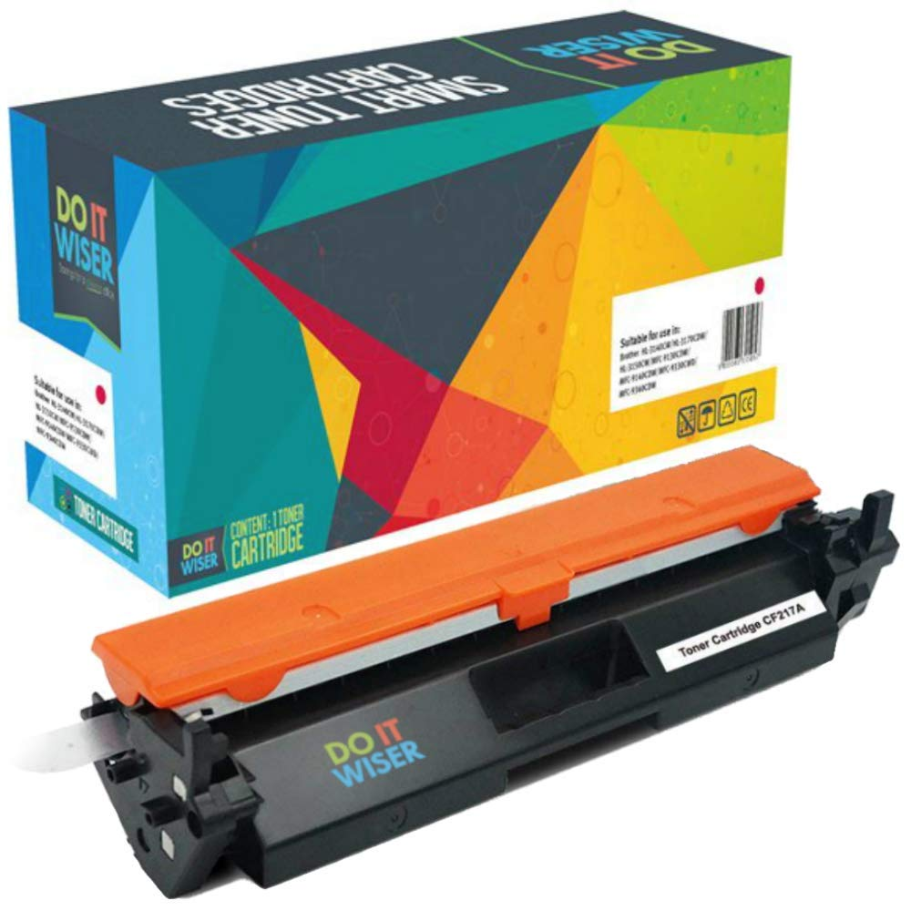 Do it Wiser Cartouche de Toner CF217A Compatible pour HP 17A Laserjet Pro M102 M130 Noir