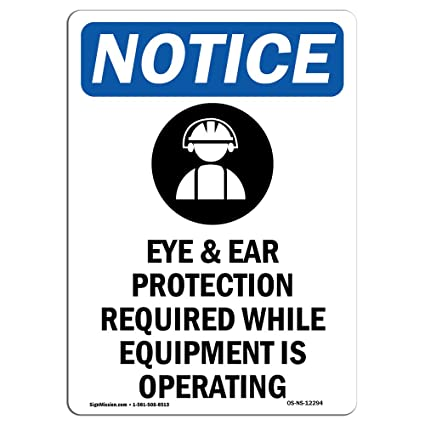 Letrero de Osha con símbolo de protección para los oídos y ...