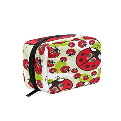 9bea0ac56 Bolsa de maquillaje con diseño de mariquita de dibujos animados ...