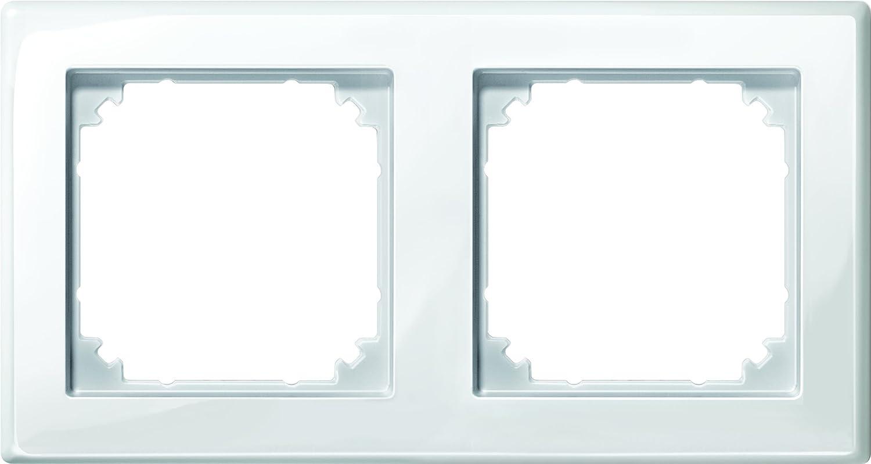 Merten M-SMART-Rahmen, 2 fach, polarweiß glänzend, 478219: Amazon.de ...