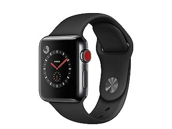 Apple Montre Connectée 38 mm Acier Noir Inoxydable