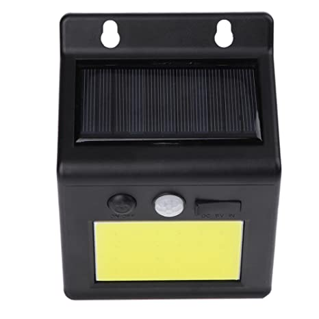 Starnearby 4W LED Solar Power Sensor de Movimiento Lámpara de Pared Impermeable Yard Jardín Lámpara
