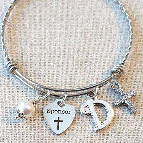 CONFIRMATION SPONSOR Thank You Gift, Personalized Catholic Confirmation Sponsor Bracelet, Confirmation Sponsor Gift,