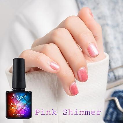 Joligel Nacarado Esmalte Semipermanente Uñas Gel UV LED Shellac Manicura Pedicura Permanente Soak Off, Brillo
