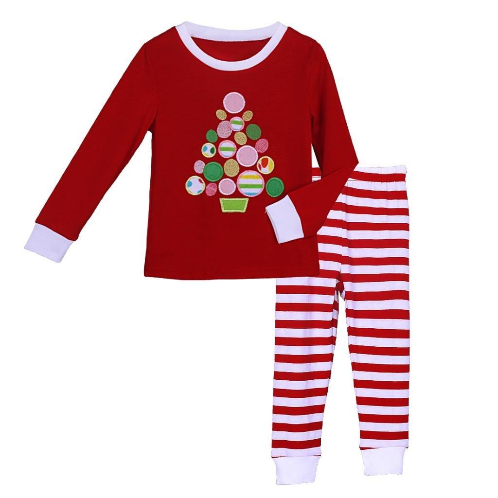 Pettigirl Girls 2 Piece Clothing Set Tree Striped Pajamas 2-7 Y CS41111-04-CA