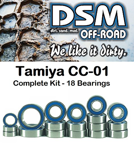 Tamiya CC-01 Jeep Wrangler, Toyota Land Cruiser, Toyota FJ Cruiser Sealed Bearing Kit Set (18 Bearings)