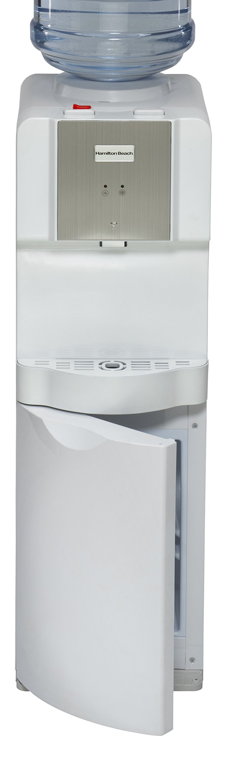 Hamilton Beach TL-1-4A Top Loading Water Dispenser with Storage Cabinet, Hot and Cold Temperatures, White by Hamilton Beach
