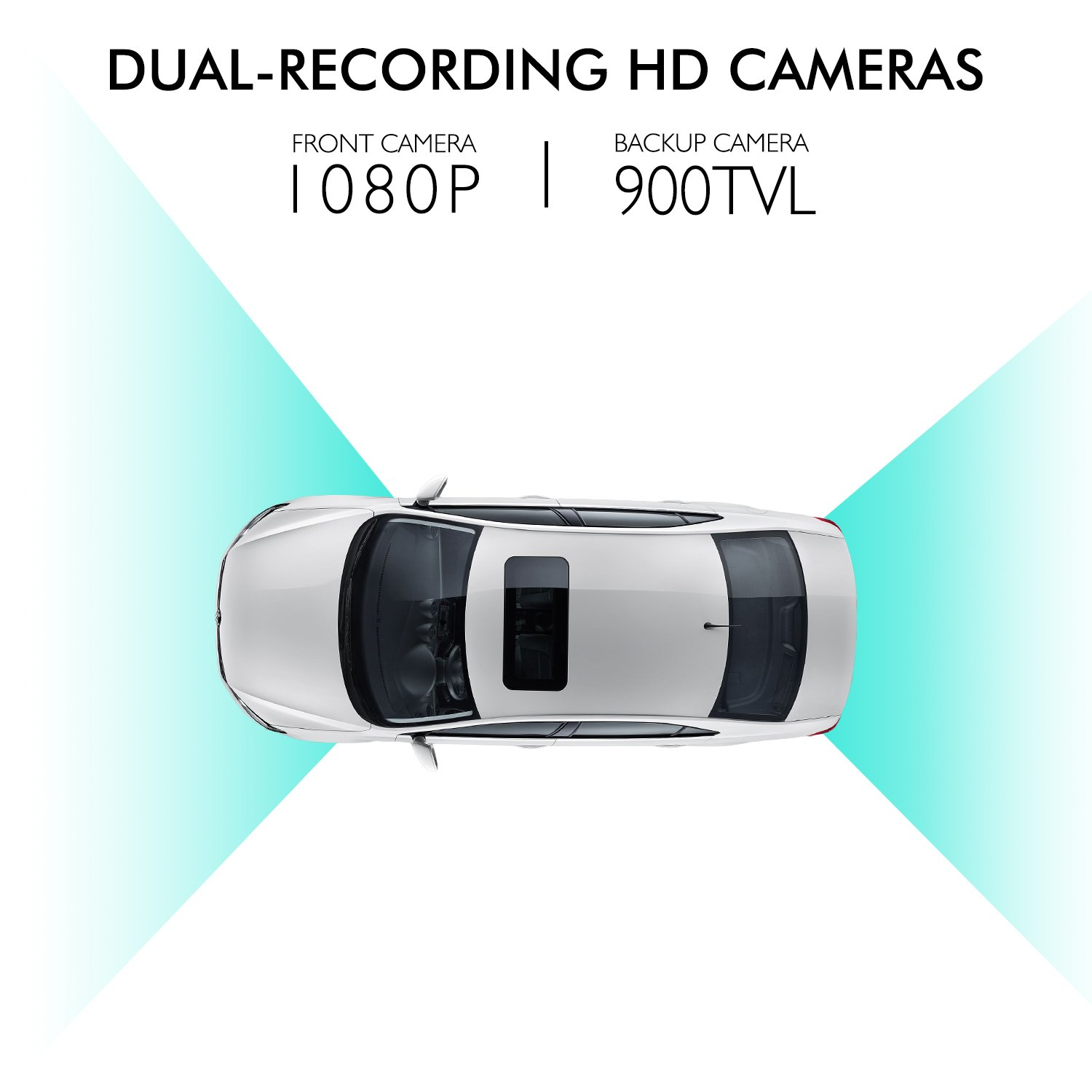 "amazon com: auto-vox m3 dual lens dash cam 5"" lcd full hd 1080p rearview  mirror dash cam and ip 68 waterproof car reverse license plate backup camera  with"
