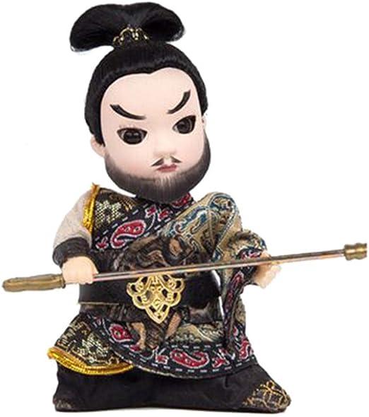 Amazon.es: BLANCHO BEDDING Valorous Zhang FEI Artesanía China Pekín Opera Muñecas Decoración: Juguetes y juegos