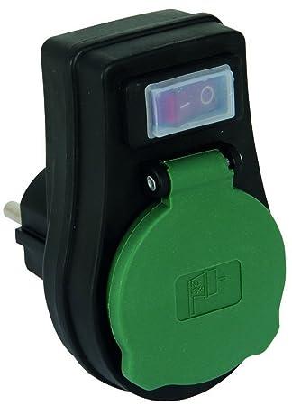 Brennenstuhl Adapterstecker outdoor IP44 Steckdosenschalter für den Außenbereich
