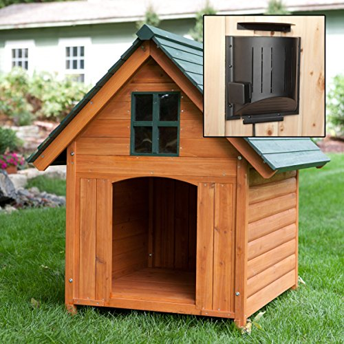 Large Heated Weather Resistant Dog House with Heater and Window