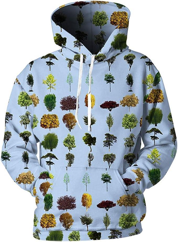 Plant Series Hoodies Hombre Mujer Impreso Sapling 3D Chándal Azul ...