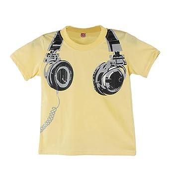 Camiseta Bebé, ❤️Xinantime Niño Niños Blusas Camiseta Camisetas Ropa Tops de manga corta para auriculares casuales de verano 1-6 años: Amazon.es: Ropa y ...