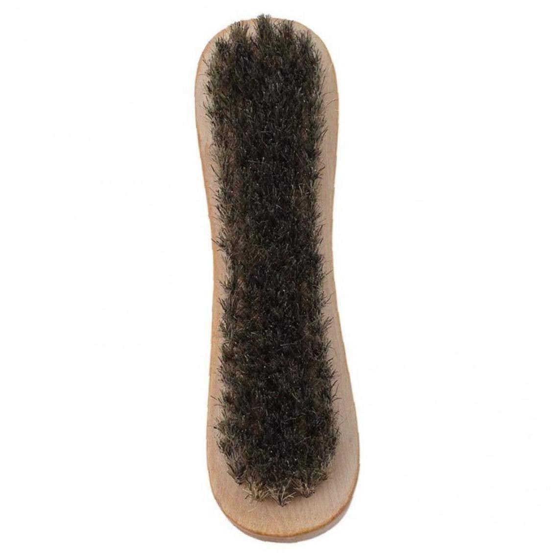 Lankater Manico in Legno su Due Lati lucidare Scarpe Spazzola di setola di Maiale lucidatura Scarpe pennelli Pennello Pulizia della casa Strumenti