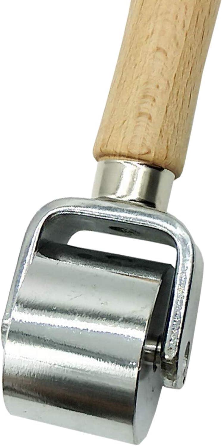 Camisin 26mm Platen Herramientas de cuero Prensa rodillo de cuero Creaser y m/ás suave pegamento de cuero laminado rodillo hierro rollo