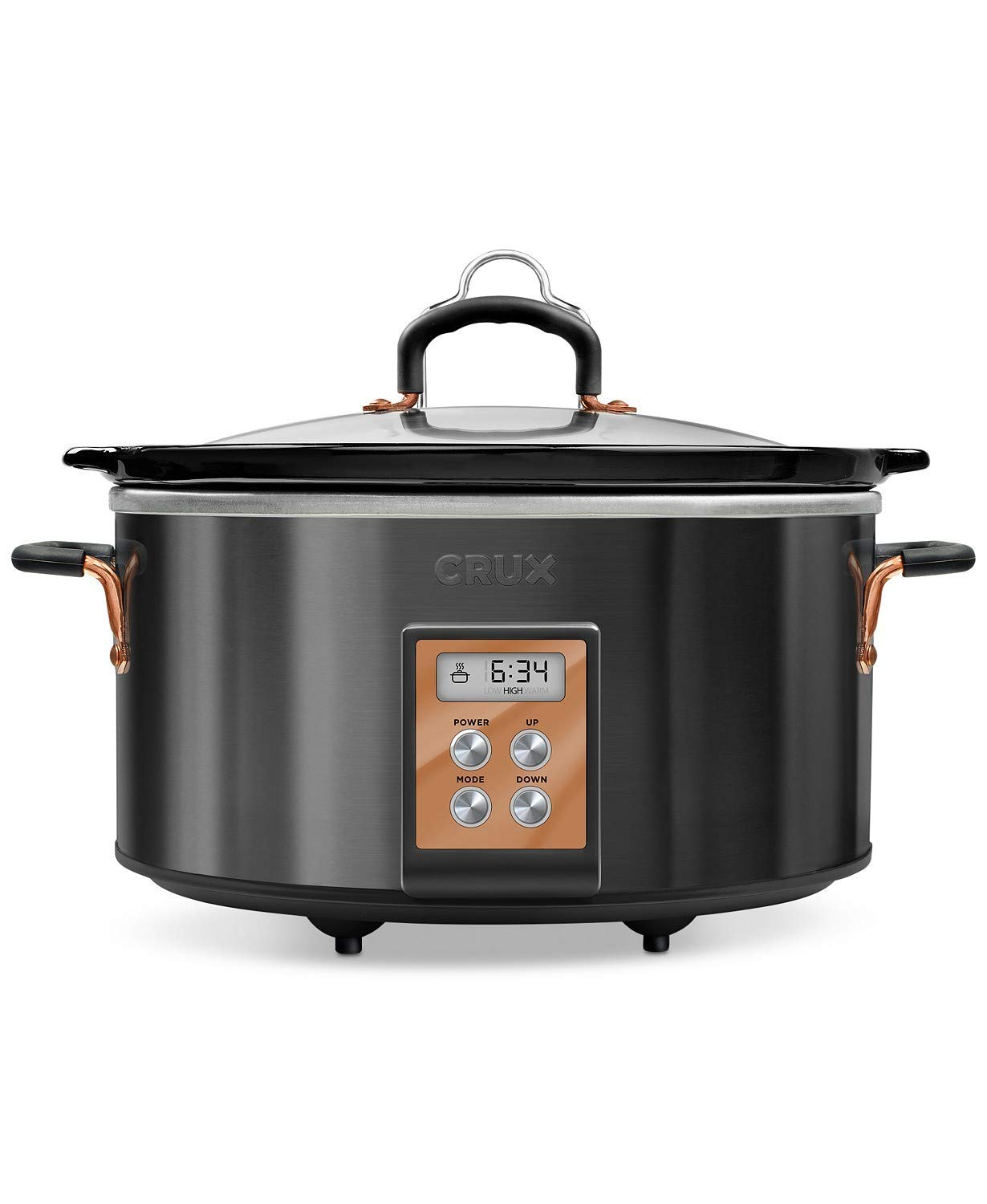 Crux 14624 6-Qt. Programmable Slow Cooker (Black)